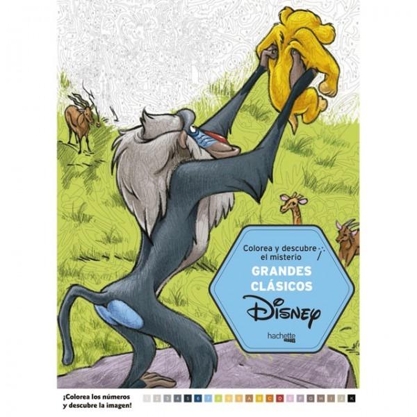 Colorea Y Descubre El Misterio  Grandes Clasicos Disney (tapa