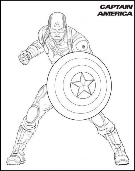 Capitan America Colorear
