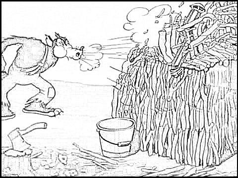 Los Tres Cochinitos Y El Lobo Feroz Dibujos