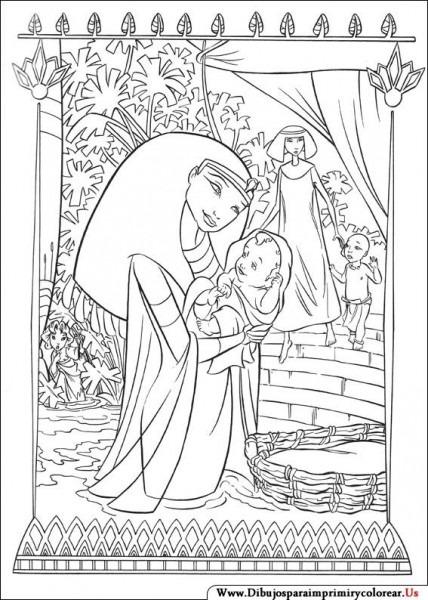 Dibujos De El Príncipe De Egipto Para Imprimir Y Colorear
