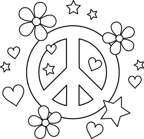 Dibujos De Paz, Armonía Y Amor Para Colorear E Imprimir