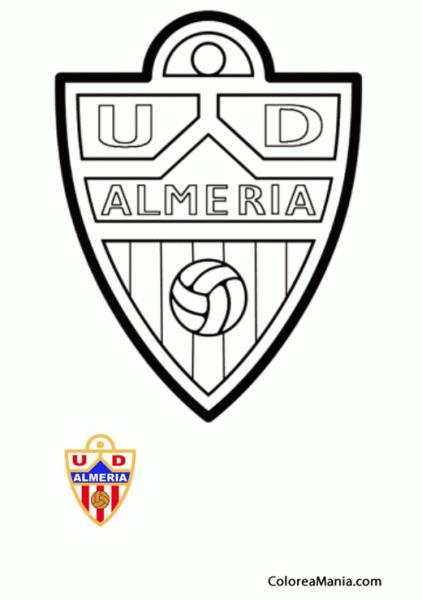 Colorear Unión Deportiva Almeria (escudos Equipos De Fútbol