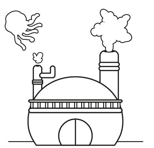 La Fábrica De Nubes  Dibujo Para Colorear E Imprimir
