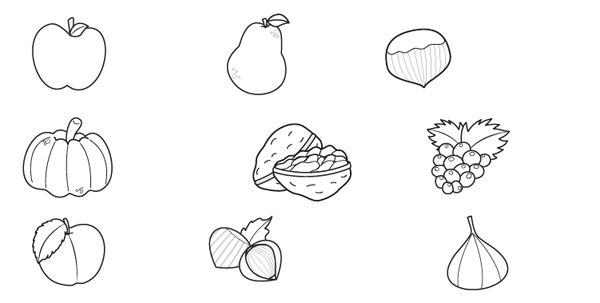 Frutas De Otoño  Dibujo Para Colorear E Imprimir