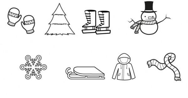 Imágenes De Invierno  Dibujo Para Colorear E Imprimir