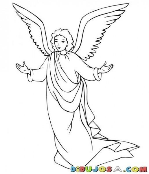 Angel San Gabriel Para Colorear