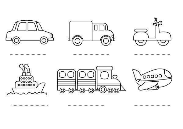 Medios De Transporte  Dibujos Para Colorear E Imprimir