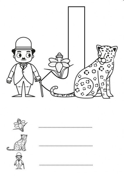 Letra J  Dibujo Para Colorear E Imprimir