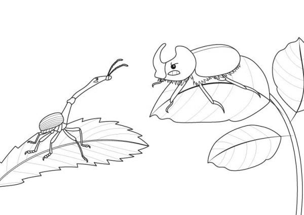 Dinosaurio O Insecto   Dibujo Para Colorear E Imprimir