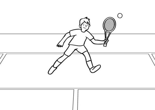 Tenis  Dibujo Para Colorear E Imprimir