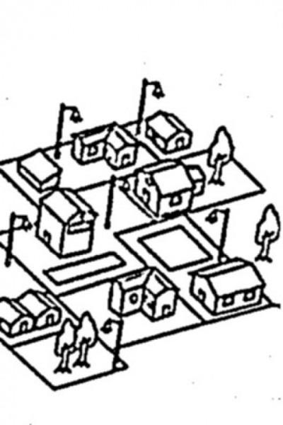 Dibujo De Aldea Caserio Pueblito Barrio Asentamiento Y Casitas