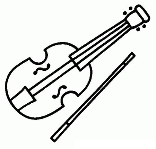 Dibujo De Violin Para Pintar Y Colorear