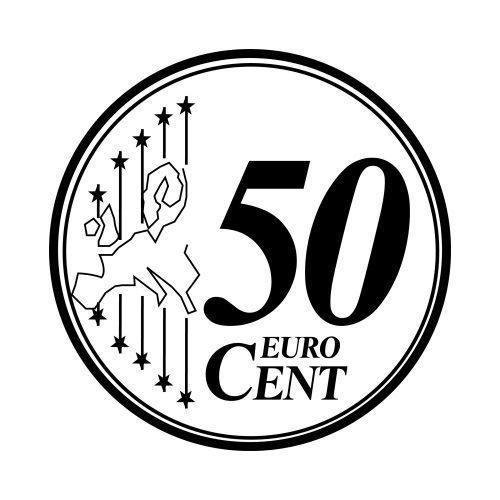 Monedas De Euro Para Colorear