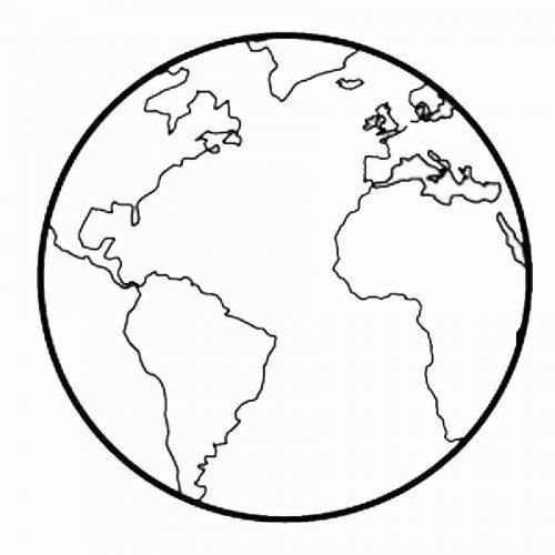 Dibujo Para Imprimir Y Colorear De La Tierra