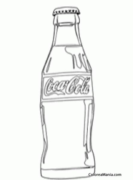 Colorear Botella De Coca