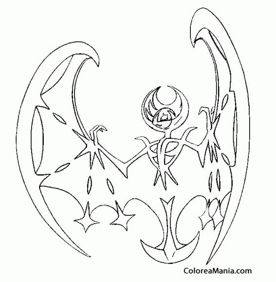 Colorear Lunala Pokémon Sol Y Luna 2 (pokemon), Dibujo Para