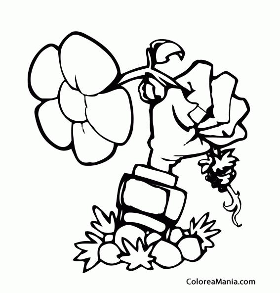Colorear Mano Zombie (plants Vs Zombies), Dibujo Para Colorear Gratis