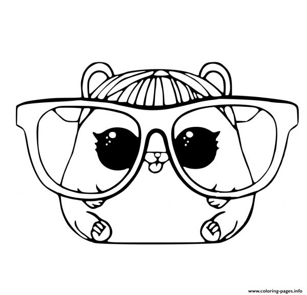 Para Colorir Hamster Lol Pets Coloring