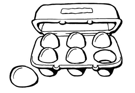 Media Docena De Huevos Para Pintar Y Colorear Un Carton De 6