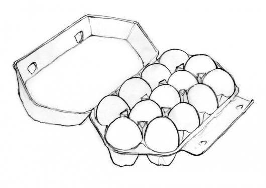 Trece Huevos Para Pintar Y Colorear Dibujo De Carton De 13 Huevos