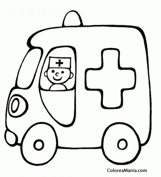 Colorear Ambulancia Pequeña (barcos, Veleros Y Demás Navios