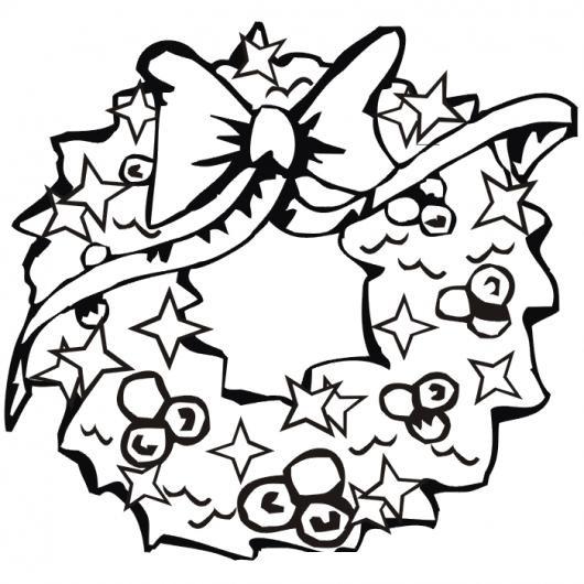 Guirnalda Navidena Dibujo De Una Girnalda De Navidad Para Pintar Y
