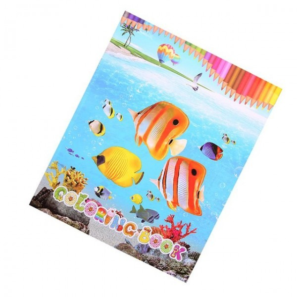 1 Pc Peces Tropicales Para Colorear Libro Educativo Inglés