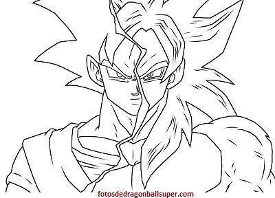 Dibujos Para Colorear Goku Super Saiyan 4 De Dragon Ball Gt En