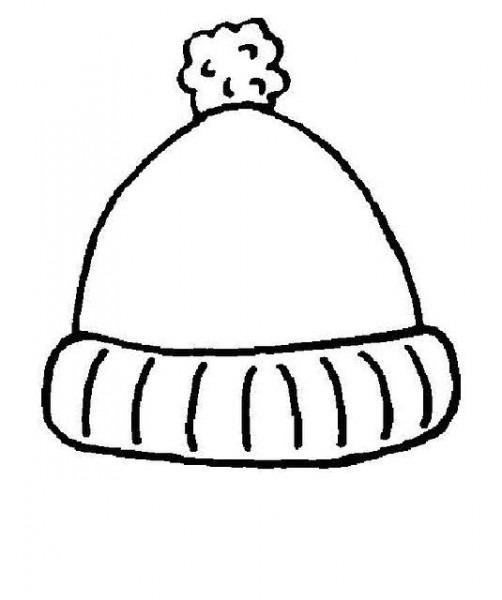 Dibujos Gorros Invierno Para Colorear