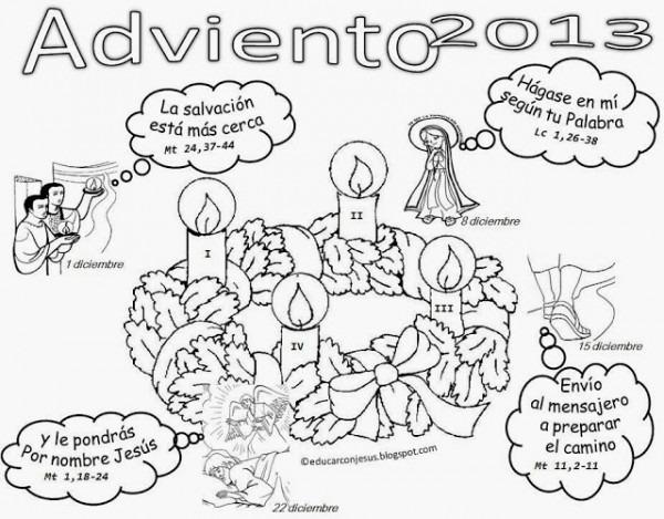 La Catequesis (el Blog De Sandra)  Calendarios Adviento 2013 Para
