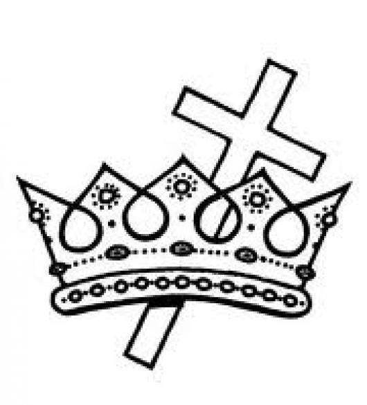 La Corona De Vida Para Colorear Corona Con Cruz De Cristo