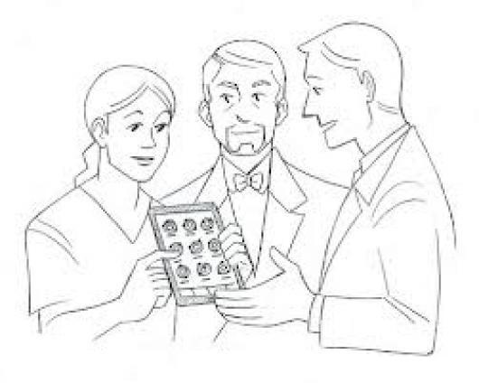 Medicos Con Ipad Para Colorear Dibujo De Doctores Con Tablet