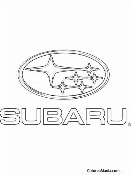 Colorear Subaru (logos Empresas Automovilísticas), Dibujo Para