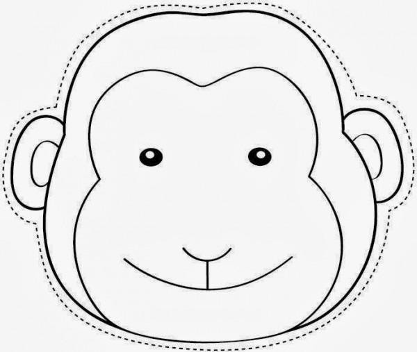Maestra De Infantil  Caretas De Animales Para Colorear E Imprimir