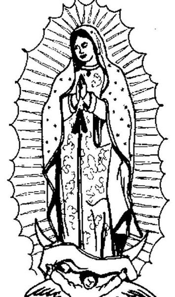 Imagenes De La Virgen Maria Para Colorear 4