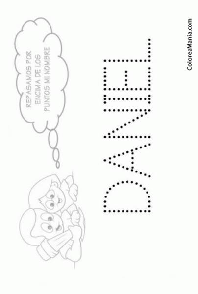 Colorear Escribo Mi Nombre  Daniel (reseguir Tu Nombre), Dibujo