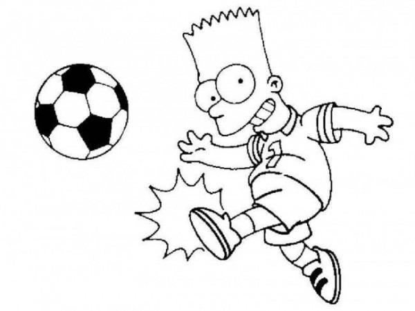 Bart Simpson Para Imprimir Y Colorear