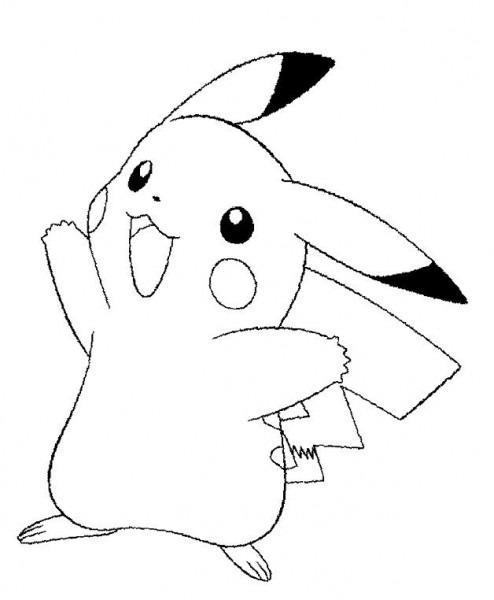 Dibujos De Pokemon Para Colorear Pikachu