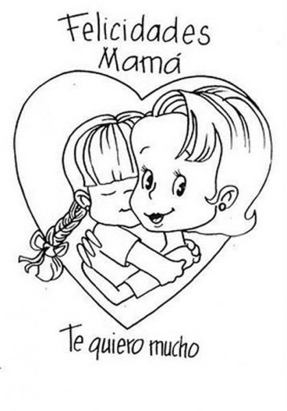 Dibujos Para Colorear Te Quiero Mama