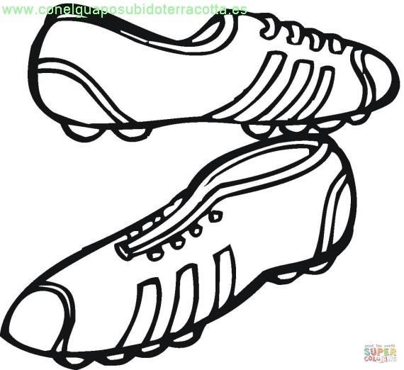 Dibujos De Botas De Futbol Para Colorear