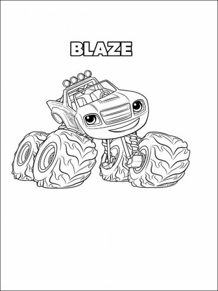 Blaze And The Monster Machines Drawing 8