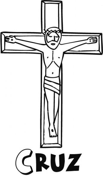 Dibujos De Primera Comunión Para Colorear  Jesucristo En La Cruz