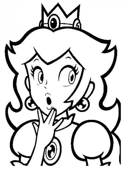 Colorear Princesa De Supermario