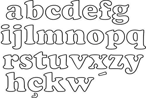 Moldes De Letras Minusculas Para Colorear
