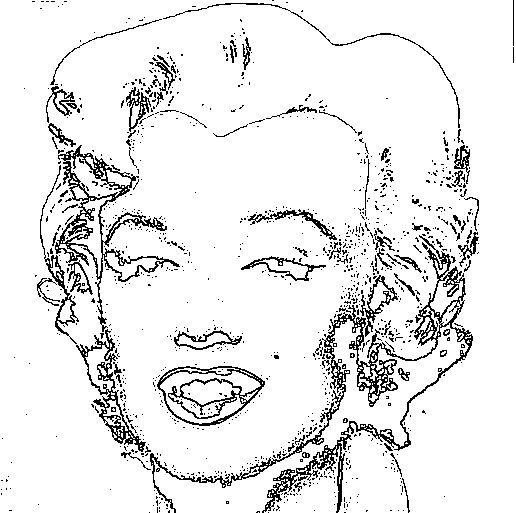 Marilyn De Warhol Para Colorear