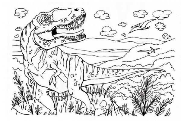 Dibujos Para Colorear Dinosaurios Para Niños En Vacacio En Taringa!
