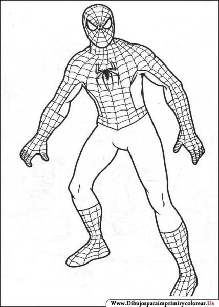 Dibujos De Spiderman Para Imprimir Y Colorear