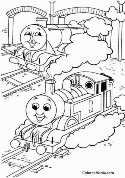 Colorear Thomas Y Percy (thomas Y Sus Amigos), Dibujo Para