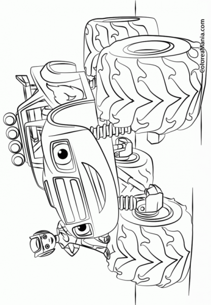 Colorear Blaze Monster Truck Blaze Y Los Monster Machines, Dibujo