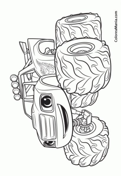Colorear Blaze (blaze Y Los Monster Machines), Dibujo Para